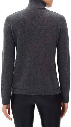 Lafayette 148 New York Metallic Cashmere Pullover Turtleneck Sweater