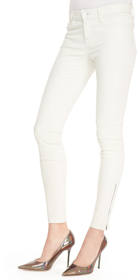 J Brand Jeans Cropped Leather Skinny Pants