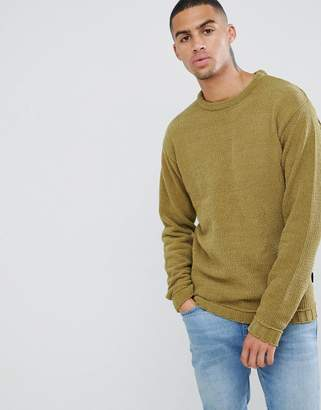 D-Struct Oversized Crew Chenille Sweater