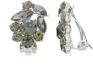 Vera Wang Simply Vera Simulated Crystal Cluster Clip-On Earrings