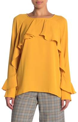 ECI Ruffle Long Sleeve Blouse
