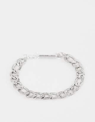 WFTW Figaro Chain Bracelet In Silver