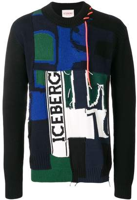 Iceberg knit mix sweater