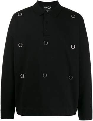 Fred Perry Oversized laurel wreath polo shirt