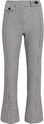 Derek Lam 10 Crosby Houndstooth Cropped Flare Trousers