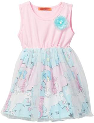 Funkyberry Unicorn Tulle Dress (Toddler Girls)