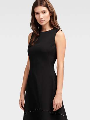 DKNY Grommet Fit-And-Flare Dress