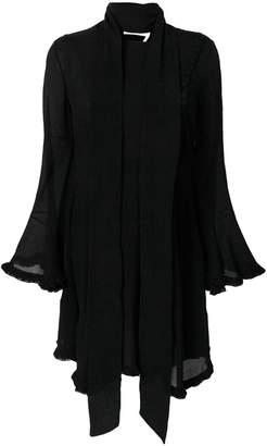 Chloé crepe tie waist handkerchief dress