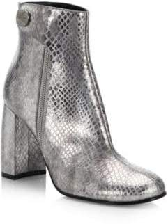Stella McCartney Curved Heel Metallic Booties