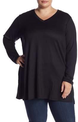 Joe Fresh V-Neck Long Sleeve Tunic (Plus Size)