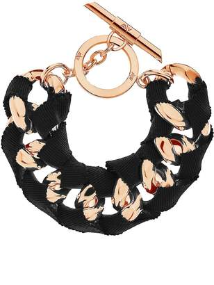 Amanda Wakeley Chunky Rose Gold Ribbon Bracelet