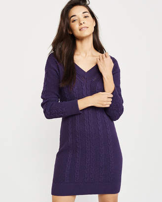 Abercrombie & Fitch Cable Tie-Back Sweater Dress