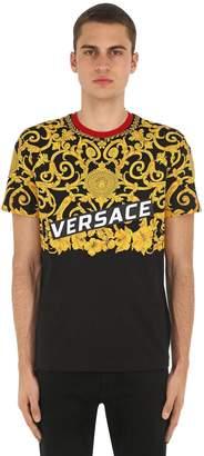 Versace Heritage Hibiscus Logo T-Shirt