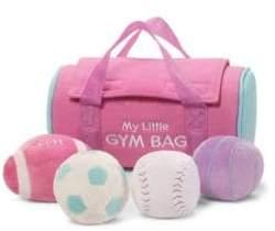 Gund Six-Piece My Little Gym Bag Plush Playset
