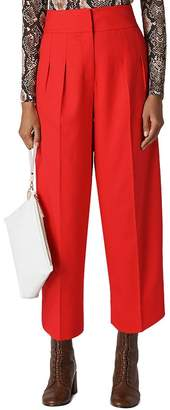 Whistles Sophie Cropped Pleat-Front Trousers