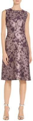 St. John Textured Floral Jacquard Dress