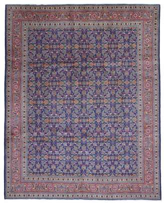 Astoria Grand One-of-a-Kind Secondo Persian Antique Kashan Hand Woven Wool Blue Area Rug