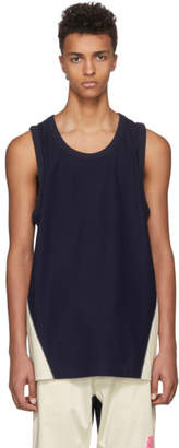 Y-3 Indigo James Harden Satin Tank Top