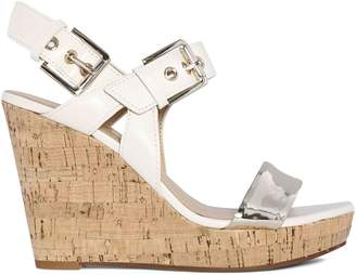 Nine West Trip 1 Scarlett Leather Wedge Sandals