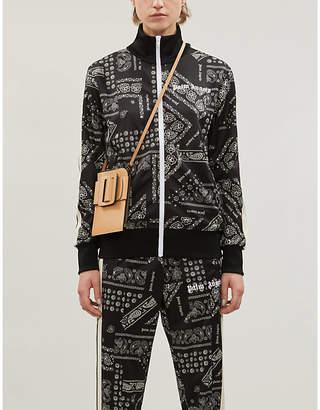 Palm Angels Bandana-print sports-jersey jacket