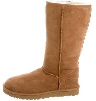 UGG Australia Suede Classic Tall Boots $100 thestylecure.com