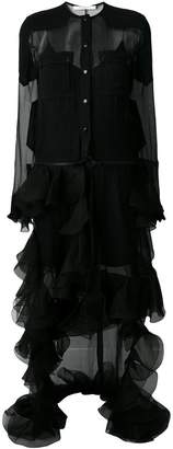 Givenchy ruffled tulle shirt dress