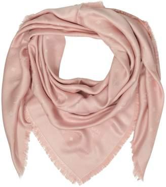 MCM Pink Signature Jacquard Wool And Silk Wrap