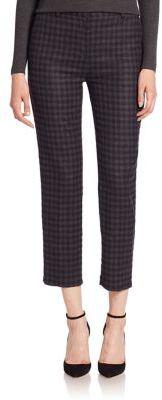 Theory Treeca Plaid Cropped Pants $285 thestylecure.com