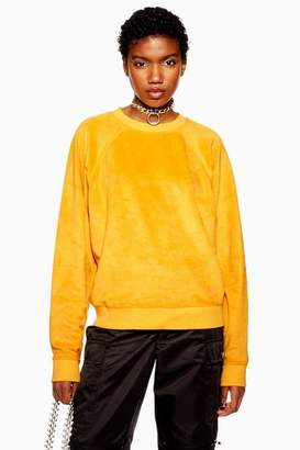 Topshop Womens Furry Sweatshirt