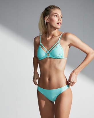 Express Solid Strappy Adjustable Triangle Bikini Swim Top