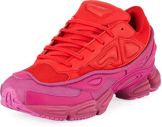 Adidas By Raf Simons Men's Ozweego Dipped Color Trainer Sneakers, Red/Purple