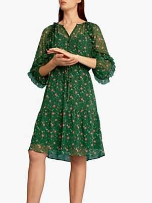Gerard Darel Georgina Dress, Green/Multi
