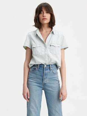 Levi's Shortsleeve Western Shirt Chambray