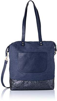 Le Temps Des Cerises Women's LTC4T8I Shoulder Bag Blue