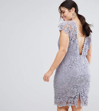 Paper Dolls Plus Midi Lace Dress with Scalloped Back