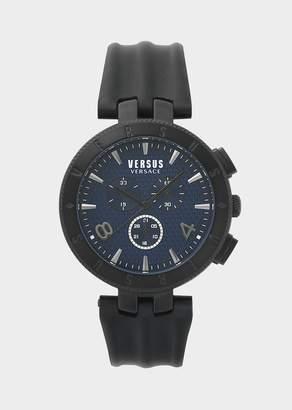 Versus New Logo Black Chromo Watch