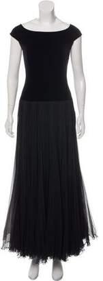 Akris Contrasted Evening Dress