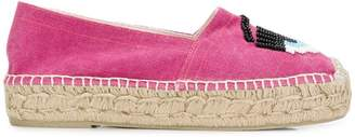 Chiara Ferragni beaded eye espadrilles