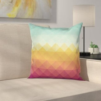 East Urban Home Abstract Checke Pastel Square Cushion Pillow Cover East Urban Home