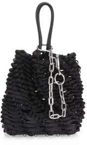 Alexander Wang Small Roxy Woven Leather Bucket Bag