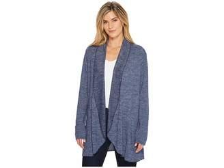 Mod-o-doc Lightweight Heather Sweater Knit Princess Seamed Cardigan Women's Sweater