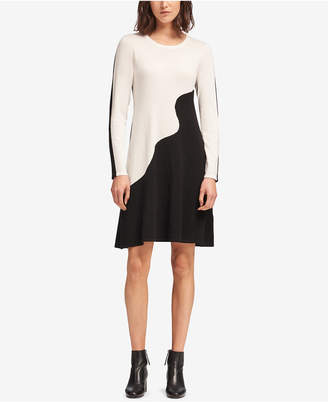 DKNY Colorblocked Sweater Dress