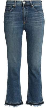 Rag & Bone Frayed High-Rise Bootcut Jeans