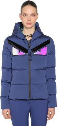 Fendi Monster Hooded Nylon Puffer Jacket