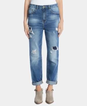 Karen Kane Cotton Distressed High-Rise Jeans