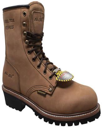 """AdTec Men 9"""" Water Resistant Steel Toe Logger Boot Men Shoes"""