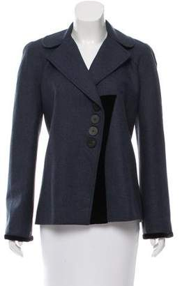 Zac Posen Velvet-Accented Wool Jacket w/ Tags