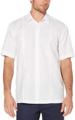 Cubavera Big & Tall Floral Paisley Embroidered Pintuck Shirt