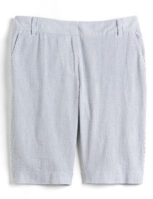Lord & Taylor Cotton Seersucker Shorts