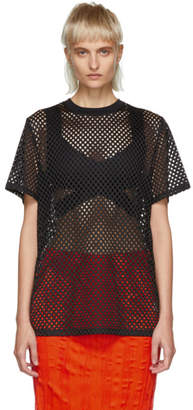 Opening Ceremony Black Mesh T-Shirt
